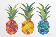 Pineapples Art Print by Cat Coquillette