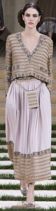 Γγρ│ Des couleurs et un style ethnique raffiné, tout en douceur - Chanel Spring 2016 Couture