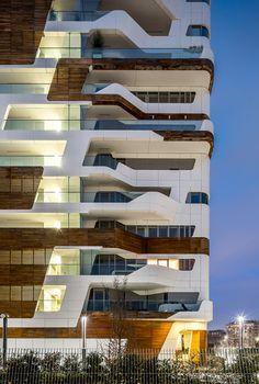 Gallery of Citylife Apartments / Zaha Hadid Architects - 7 Citylife Apartments,© Simón Garcia. Architecture Design, Green Architecture, Futuristic Architecture, Sustainable Architecture, Residential Architecture, Amazing Architecture, Futuristic City, Chinese Architecture, Zaha Hadid Architects