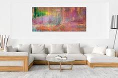Fata morgana No.5 – XXL abstract landscape Fata Morgana, Palette Knife Painting, Copper Color, Ivana, Abstract Landscape, Wooden Frames, Earthy, Blinds, Landscapes