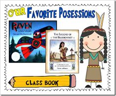 Native American girl who sacrifices her most prized possession to end her tribe's suffering. A few of us even shed a few tears while we were reading the story. Then we made a class book by writing about what our most prized possession is and why.