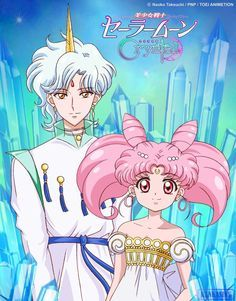 Art by Kankasin V on Twitter — Helios and Chibiusa OMG it look so like the anime