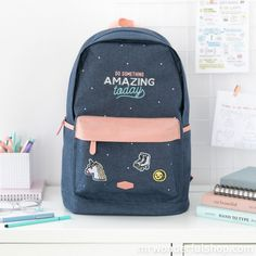¡Mira que chulo! Mochila - Do something amazing today (ENG) Cute Backpacks For School, Cute School Bags, Cute Mini Backpacks, Trendy Backpacks, Girl Backpacks, School Bags For Girls, Leather Backpacks, Leather Bags, Bags For Teens