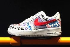 low priced 6219f 8d7db Why Are High Fashion Labels Obsessed With Scribbles Nike will release  custom Air Force ...