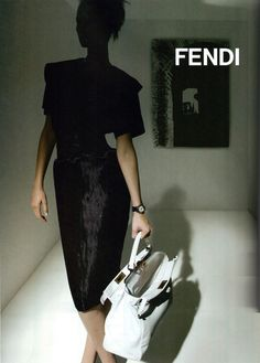 Fendi Ad Campaign - love the light and shadows here #fashionphoto