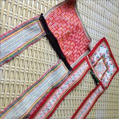 Vintage Hmong Ethnic Handmade embroidery patch straps delicate Hilltribe craft supplies by KutchiKooTribe on Etsy