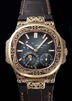 luxury watches for men stainless steel Watch Engraving, Hand Engraving, Patek Philippe Aquanaut, Patek Philippe Calatrava, Panerai Watches, Expensive Watches, Luxury Watches For Men, Cool Watches, Fashion Watches