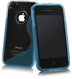 Apple iPhone 4S/iPhone 4 S-Line Hybrid Case (Light Blue)
