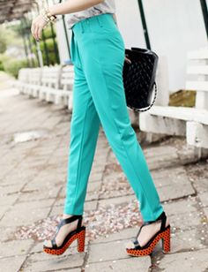 Neon LBLUE pants