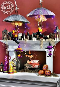 1000 images about fall decorating on pinterest for How to decorate your fireplace for halloween