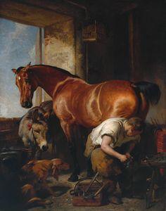'Shoeing' by Sir Edwin Henry Landseer, exhibited 1844; Tate Britain