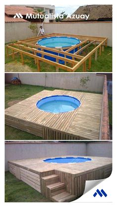 Having a pool sounds awesome especially if you are working with the best backyard pool landscaping ideas there is. How you design a proper backyard with a pool matters. Piscina Diy, Piscina Pallet, Small Backyard Pools, Backyard Pool Designs, Backyard Patio, Backyard Ideas, Backyard Cottage, Diy Patio, Patio Ideas