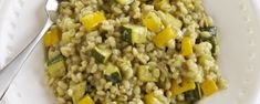 Barley Risotto with Italian Herbs Barley Risotto, Gourmet Garden, Chicken Risotto, Risotto Recipes, Kraut, Fried Rice, Gourmet Recipes, Herbs, Stuffed Peppers