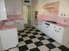 vintage original good condition 1956 kitchen cabinets oven Mesa Arizona home. I'm drooling!