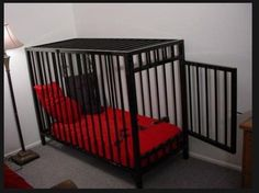 divinelycaged: I very much want this exact cage to put next to the bed of my Mistress. This would be a lovely compliment to my bedroom. Dungeon Furniture, Playroom Furniture, Playroom Ideas, Dungeon Room, Red Rooms, Kittens Playing, Dominatrix, Pastel, Pets