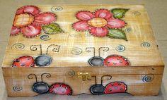 artesanato pintura country caixa madeira mdf: