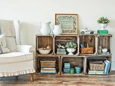 This easy-to-build storage unit is a great way to give new life to old crates to create a functional, one-of-a-kind piece for your home.