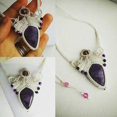 Handmade charoite macrame necklace custom made. Very pleased client so happy crafting! Lsd Art, Macrame Necklace, Art Work, Workshop, Crafting, Happy, Handmade, Artwork, Work Of Art
