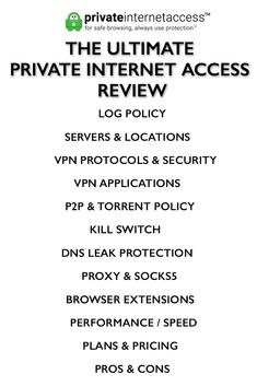 Complete Private Internet Access review #vpn #pia #privateinternetaccess #vpnreviews