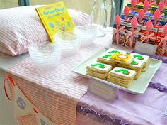 Brunch play date or birthday party. Kids show up in Jammie's and serve breakfast foods. Use bedtime stories for decorating ideas.
