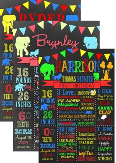 Carnival themed Birthday Party Board  by CustomPrintablesNY
