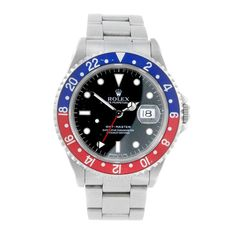 ROLEX - a gentleman's Oyster Perpetual Date GMT-Master bracelet watch. Circa 1996. Stainless steel c