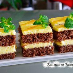 Prajitura pufoasa cu crema de lamaie Cheesecake, Food And Drink, Pudding, Romania, Cooking, Desserts, Recipes, Home, Meal