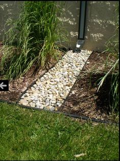 Rock edging for heavy water flow area