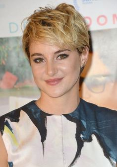 We love Shailene Woodley's long crop. This edgy style is shorter at the nape of the neck and longer on the top and sides. #Haircuts #Hair