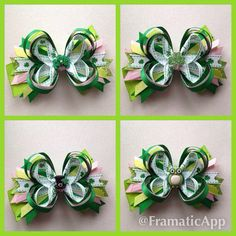 St.+Patricks+Day+stacked+bow+by+LillyBeanBowtique+on+Etsy,+$8.00