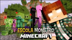 Minecraft Escola Monstro #06 - Namoradas Monstro!!  Monster School