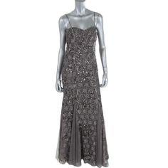Aidan Mattox Womens Embellished Prom Evening Dress