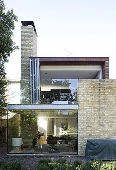 brick and glass combination