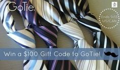 Looking for some ties that are easy to put on & look amazing? Enter to win a $100 Gift Card to GoTie here!