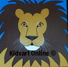 Lion king painting Leeuwenkoning schilderij