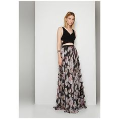 Midnight Floral Black Print Rose Floral Two Piece Dress ($299) ❤ liked on Polyvore featuring dresses, gowns, midnight floral, two-piece dress, floral print gown, floral print dress, formal gowns and formal evening dresses