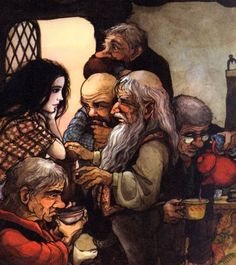 "Snow White by Trina Schart Hyman. They like the dwarves from ""The Hobbit""!"