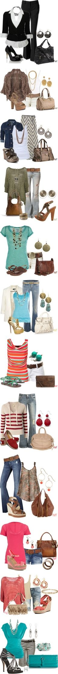 Really cute outfits for spring. I LOVE THEM <3