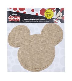 Disney Mickey Mouse Ears Adhesive Burlap Small