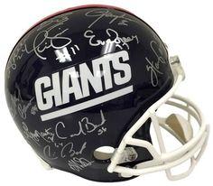 1986 New York Giants Team Signed Full Size Replica Helmet JSA 26 Signatures
