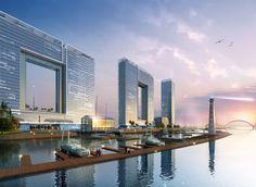 Atkins Designs Striking Office Complex in Guangzhou