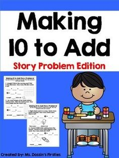 Making 10 to Add Story Problems is the perfect addition to your Common Core math curriculum! Reinforce the concept of making 10 to add to solve story problems through ten frames and number bonds. This is the perfect companion to the first grade Engage NY curriculum!For more practice check out my Making 10 to Add Pack!Enjoy!