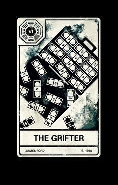 lost tarot cards. awesome design...interesting card 'the grifter'