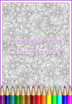 Coloring pages ZENTANGLE Heart PDF zentangle от ZentangleHouse