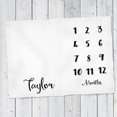 Baby Month Milestone Blanket