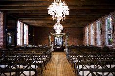 Warm & Fuzzy Wedding #Ceremony Setting | See the wedding on SMP  - http://www.StyleMePretty.com/2014/01/23/boho-wedding-at-the-carondelet-house/ Photo Kronology