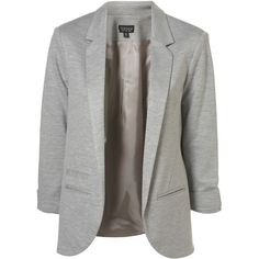 Ponte Boyfriend Blazer (4.895 RUB) ❤ liked on Polyvore featuring outerwear, jackets, blazers, tops, women, boyfriend jacket, gray jacket, grey jacket, boyfriend blazer jacket and gray blazer
