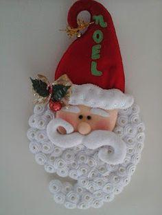 NOEL PUERTA BARBA 1 Mary Christmas, Felt Christmas Ornaments, Christmas Gnome, Christmas Projects, All Things Christmas, Christmas Stockings, Christmas Holidays, Hanukkah Decorations, Christmas Wall Hangings
