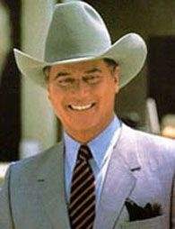 Larry Hagman played the bad boy J. R. Ewing in the original TV show Dallas...  check out what he is doing today...