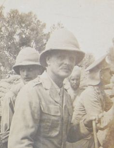 Sir William Birdwood inspecting Indian troops on Gallipoli. Subedar Kishan Singh of the 14th Sikhs is in the background (Sikh Album).